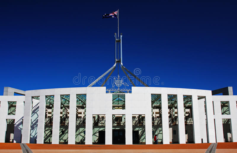 W Canberra australijski Parlament obrazy royalty free