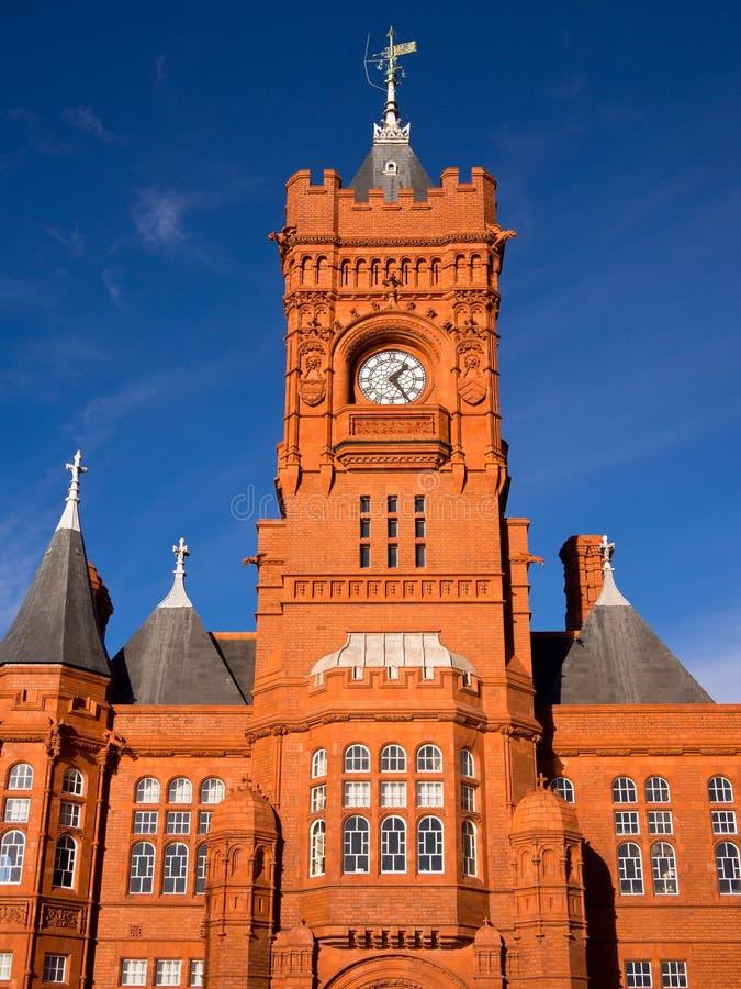 W Cardiff Kierowniczy molo budynek, Walia zdjęcia stock