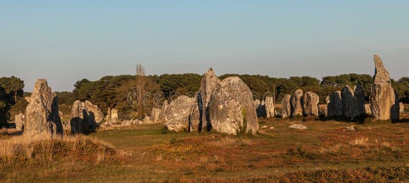 W Carnac megalityczni Zabytki fotografia royalty free