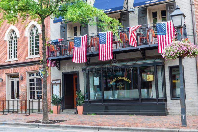 W centrum Aleksandria Virginia podróży miejsce przeznaczenia zdjęcie stock