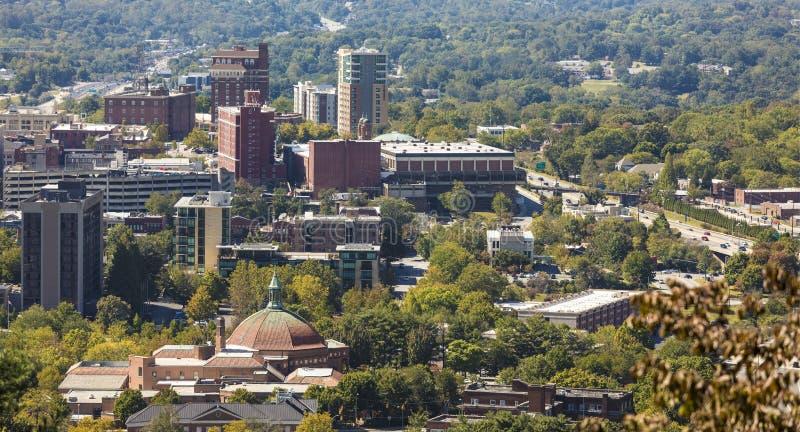 W centrum Asheville, Pólnocna Karolina zdjęcia royalty free