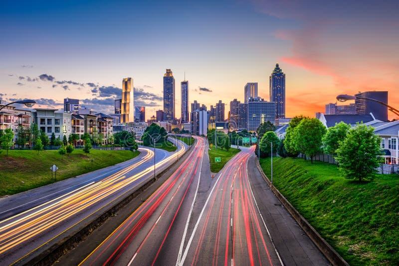 W centrum Atlanta Gruzja linia horyzontu obrazy stock