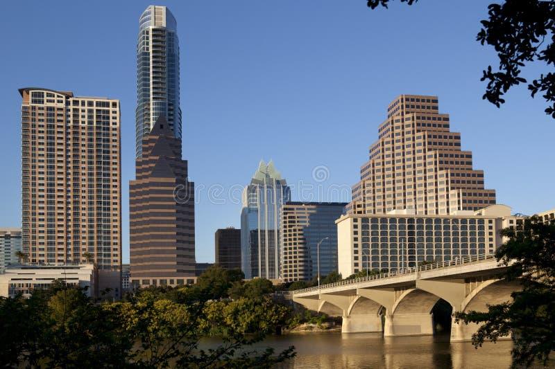 w centrum Austin linia horyzontu Texas obraz stock