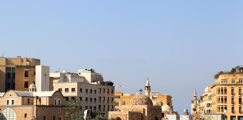 W centrum Bejrut linia horyzontu fotografia royalty free