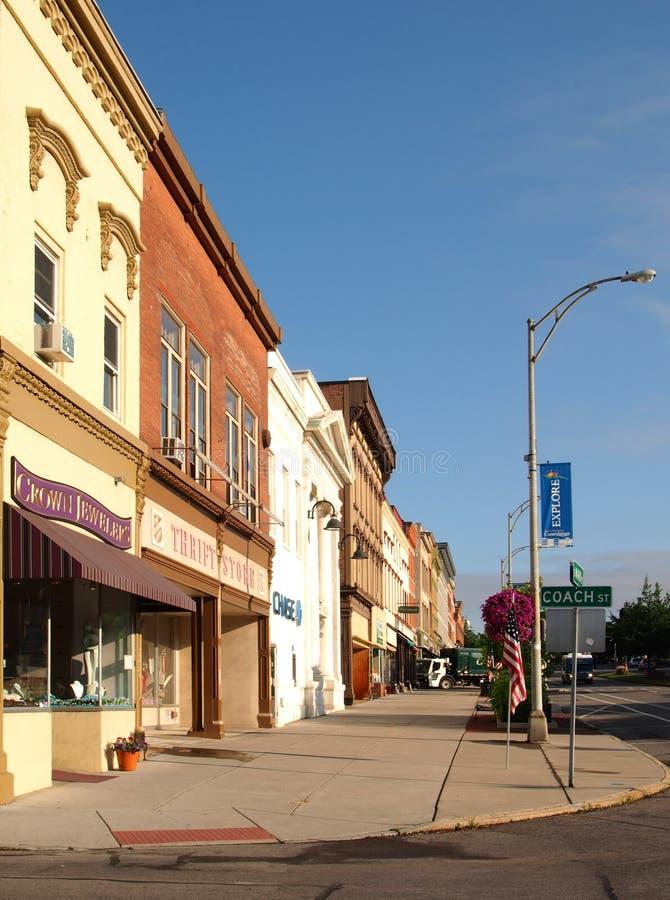 W centrum Canandaigua, Nowy York zdjęcie stock
