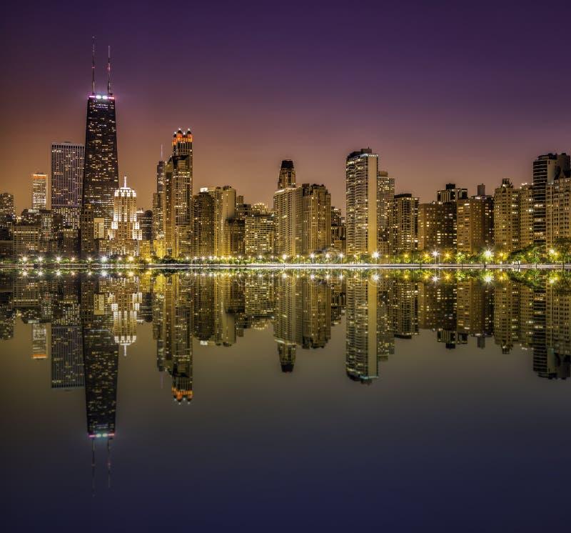 W centrum Chicagowska Wspaniała mila fotografia royalty free