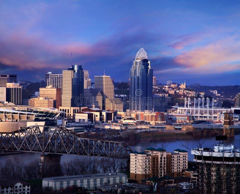 W centrum Cincinnati zdjęcie royalty free