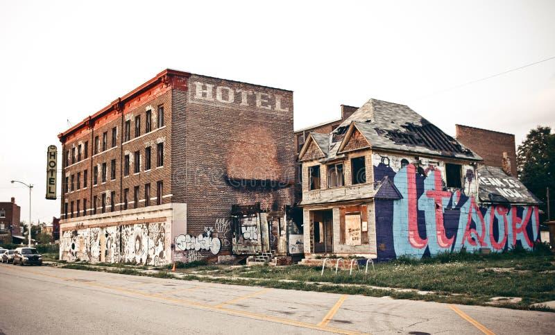 W centrum Detroit obraz royalty free