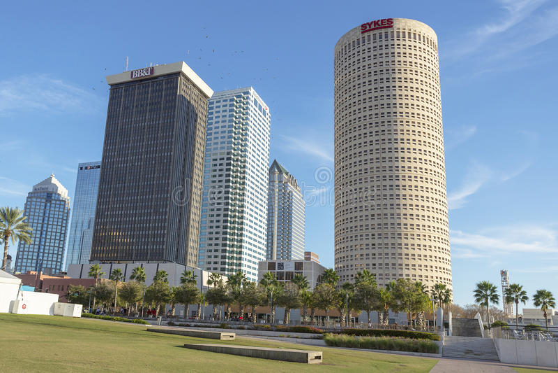 w centrum Florida Tampa fotografia royalty free