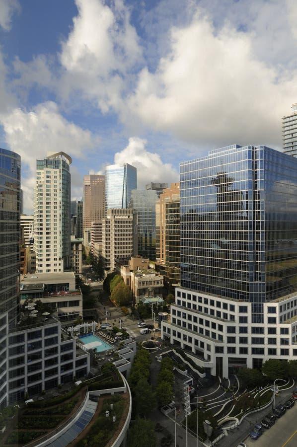 w centrum highrise Vancouver obrazy royalty free