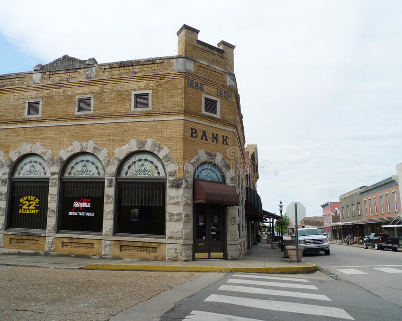 W centrum historyczni budynki, Van Buren, Arkansas obraz royalty free