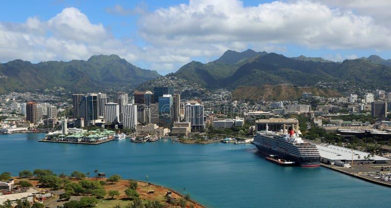 w centrum Honolulu zdjęcia royalty free