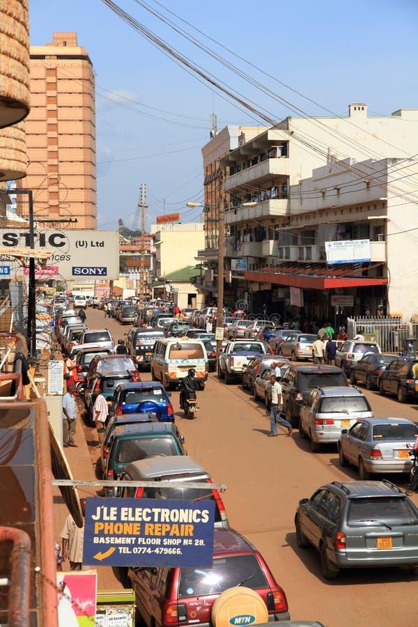 W centrum Kampala ulica obraz stock