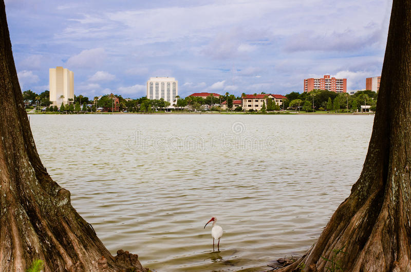 W centrum Lakeland, Floryda, od Jeziornego Morton obraz stock