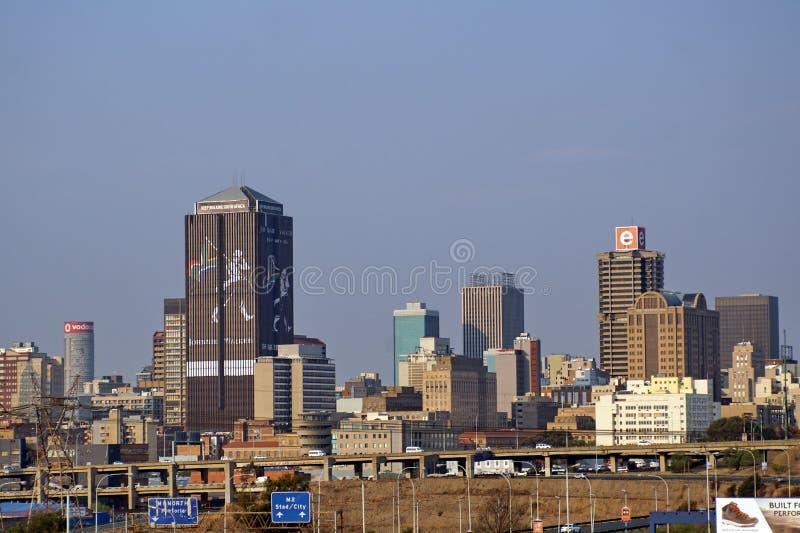 W centrum linia horyzontu w Johannesburg obraz stock