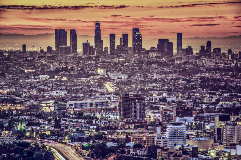 W centrum Los Angeles zdjęcie royalty free
