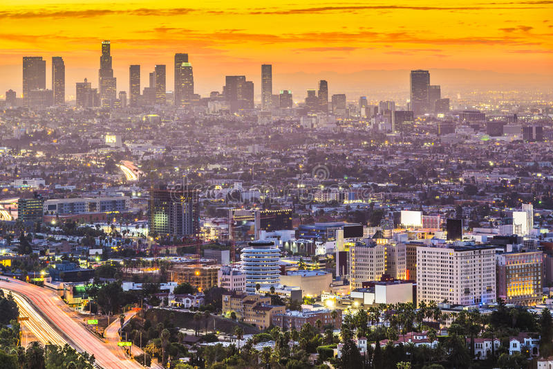 W centrum Los Angeles obraz royalty free