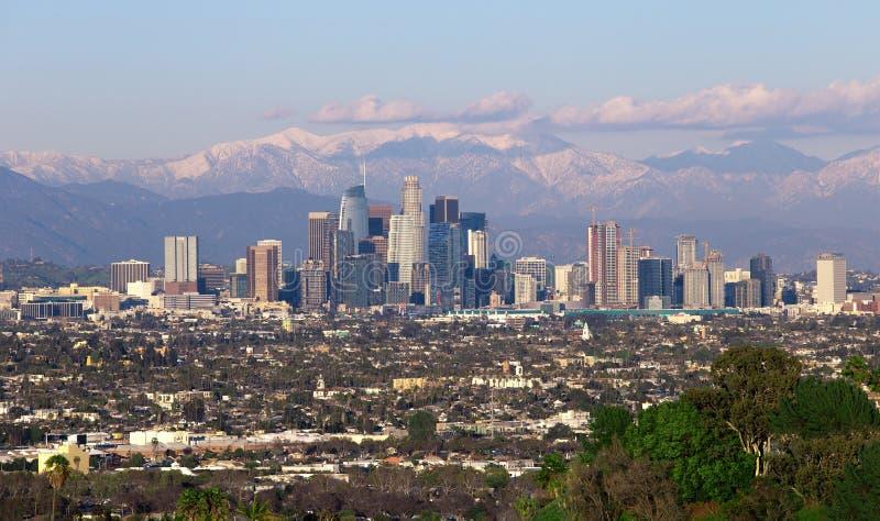 W centrum Los Angeles z Śnieżnym krajobrazem zdjęcie royalty free