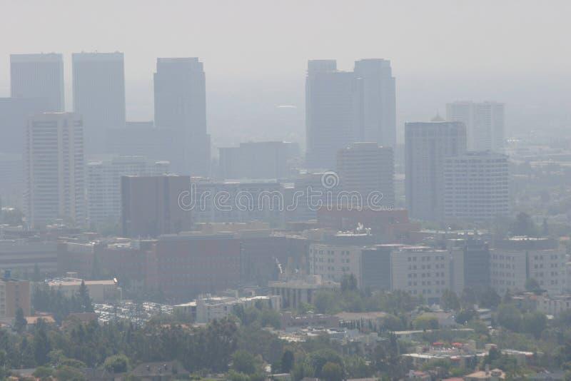 W centrum losu angeles zanieczyszczenie powietrza obraz royalty free