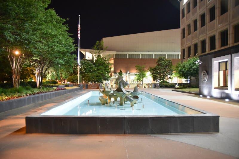 W centrum Memphis przy skarba budynku podwórzem, Memphis, TN fotografia royalty free