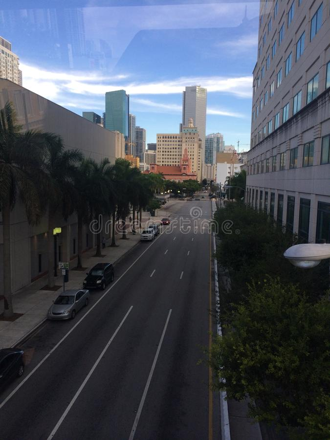 w centrum Miami fotografia royalty free