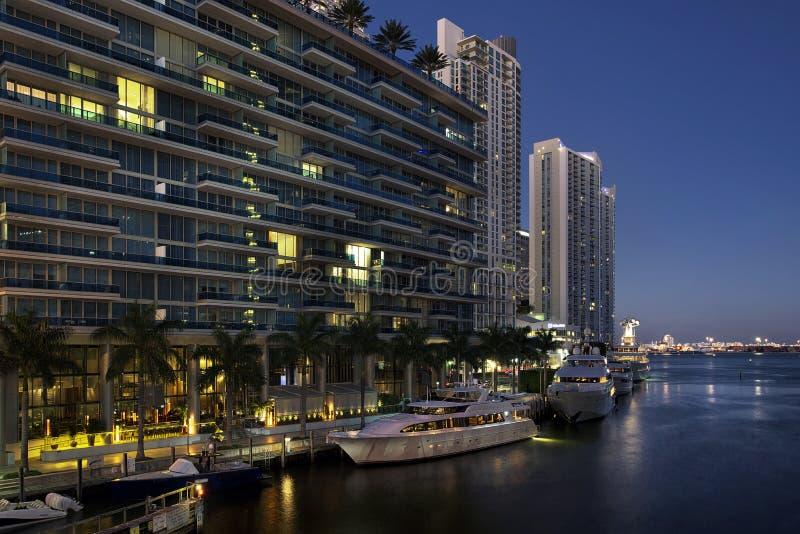 W centrum Miami budynki fotografia royalty free