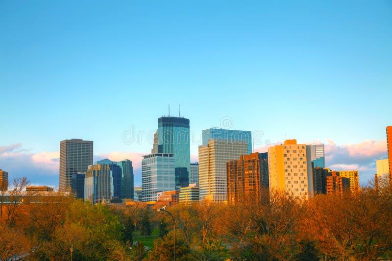 W centrum Minneapolis, Minnestoa zdjęcia stock