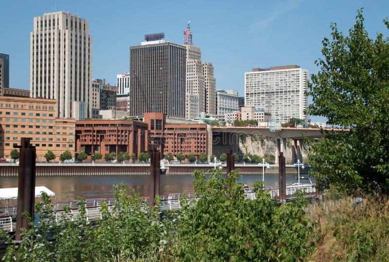 W centrum Minneapolis, Minnestoa obrazy stock