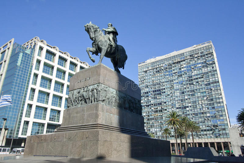 w centrum Montevideo Uruguay obraz royalty free