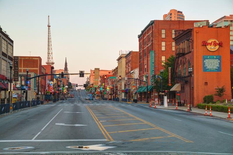 W centrum Nashville pejzaż miejski w ranku zdjęcia stock