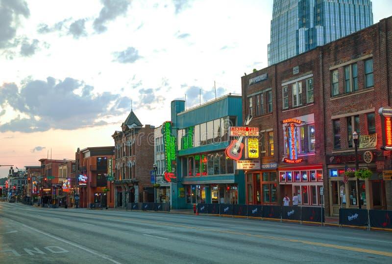 W centrum Nashville w ranku obrazy stock
