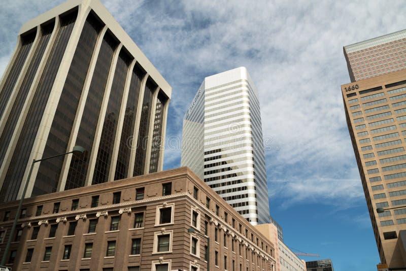 W centrum Nowożytni budynki w Denver, Kolorado zdjęcia stock