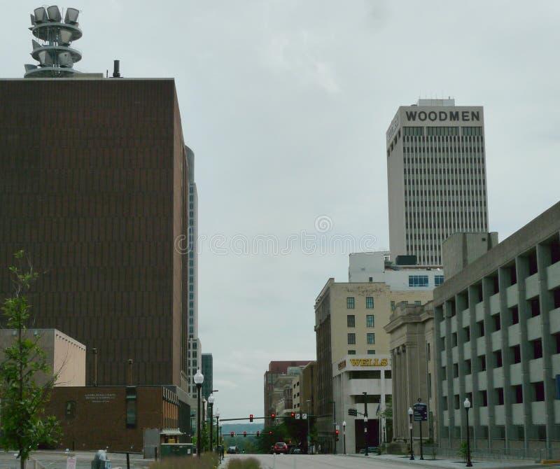 W centrum Omaha, Nebraska zdjęcie royalty free