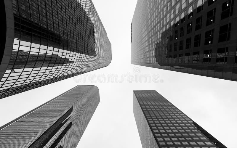 W centrum pieniężny okręg Los Angeles miasto, Kalifornia obraz stock