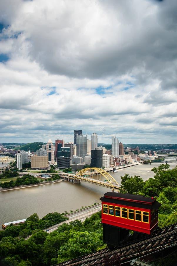 w centrum Pittsburgh obraz stock