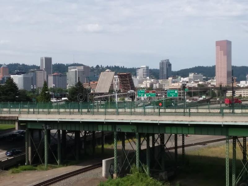 W centrum Portland obrazy stock