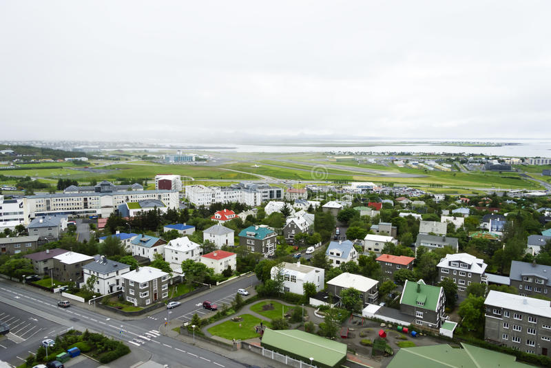 W centrum Reykjavik, Iceland obraz stock