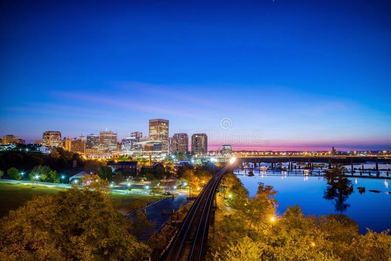 W centrum Richmond, Virginia linia horyzontu fotografia stock