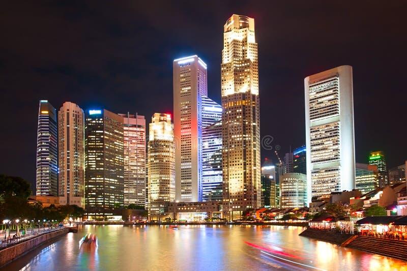 W centrum sedno, Singapur zdjęcie royalty free