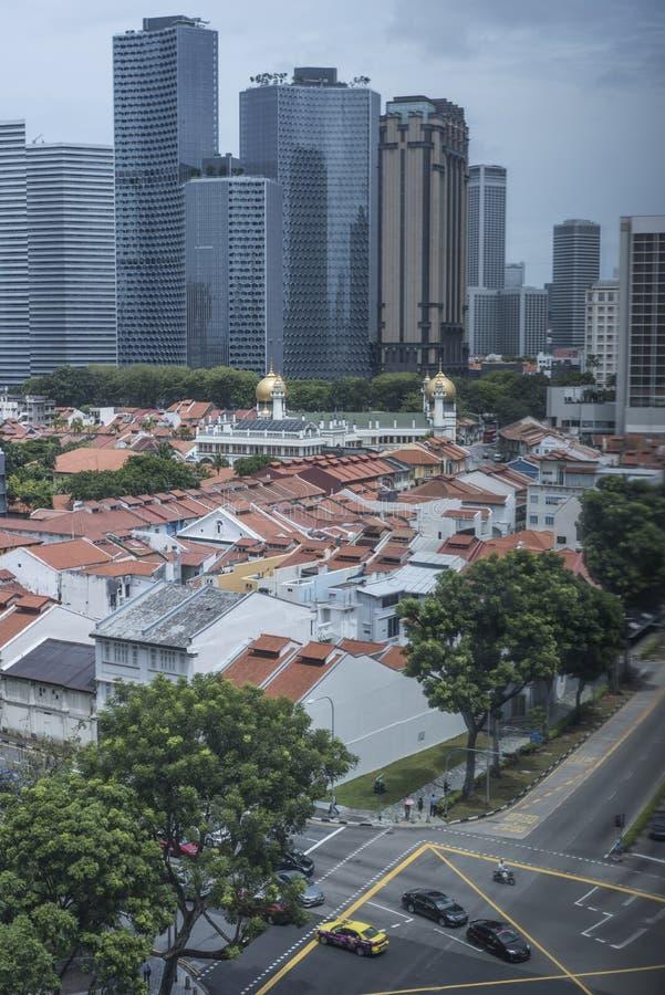 W centrum Singapur przy dniem zdjęcia stock