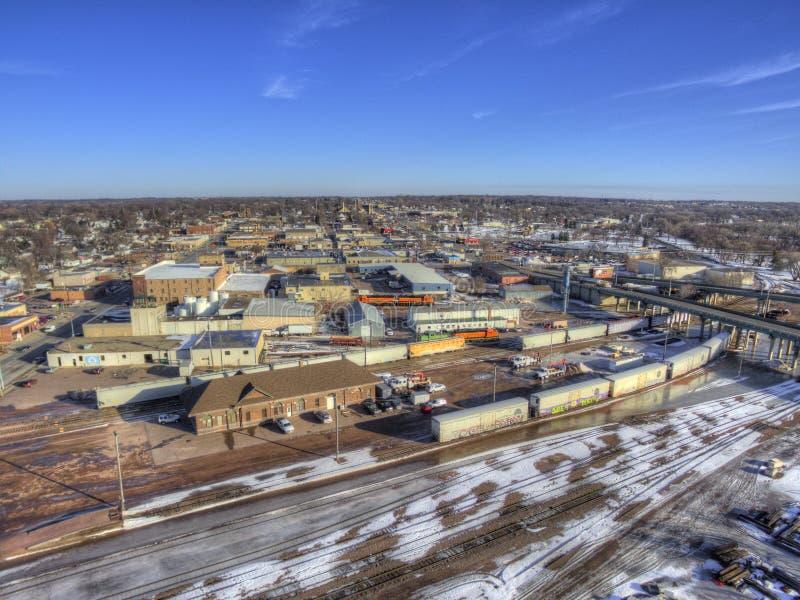 W centrum Sioux Spada linia horyzontu w Południowym Dakota Podczas zimy zdjęcia stock
