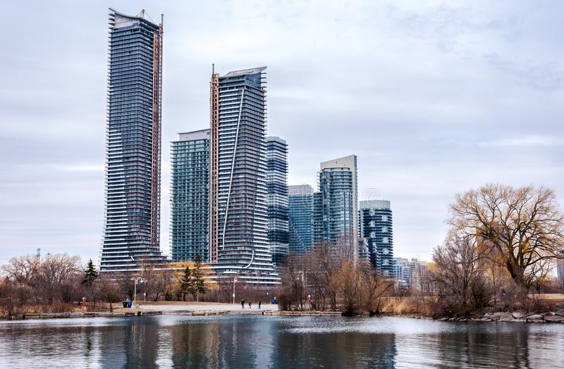 W centrum Toronto widok od woda przodu obraz stock