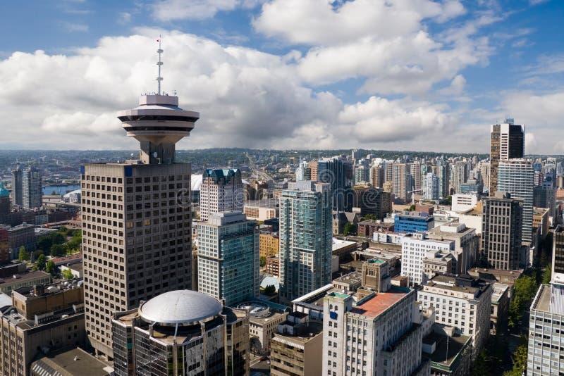 w centrum Vancouver obraz stock
