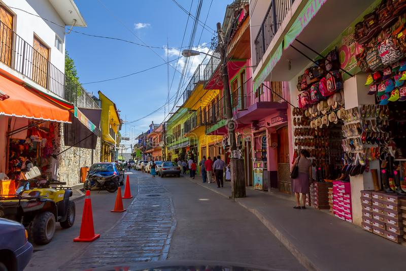W centrum Xilitla, san luis Potosi, Meksyk - obrazy stock