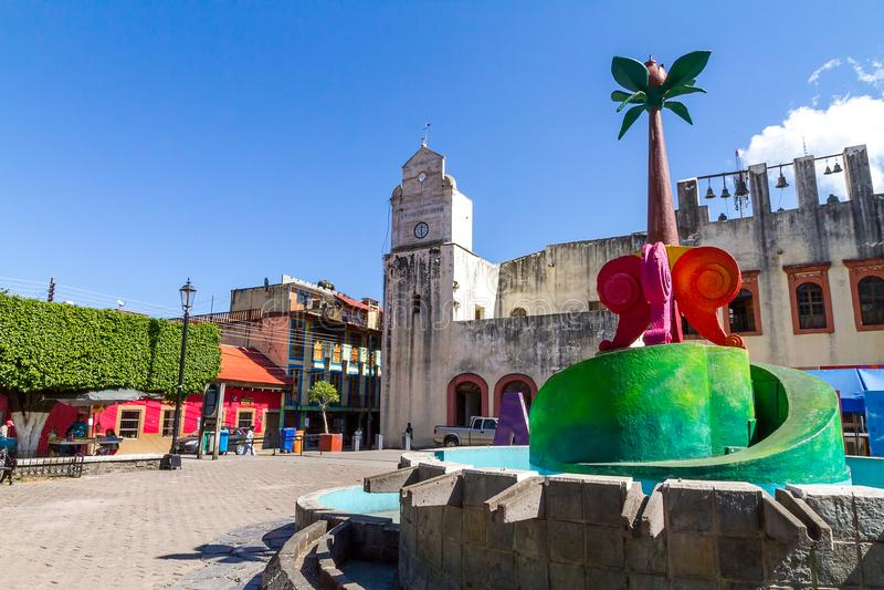 W centrum Xilitla, san luis Potosi, Meksyk - obraz royalty free