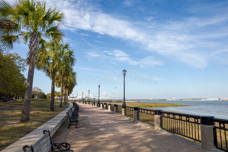 W Charleston nabrzeże park, SC obrazy royalty free
