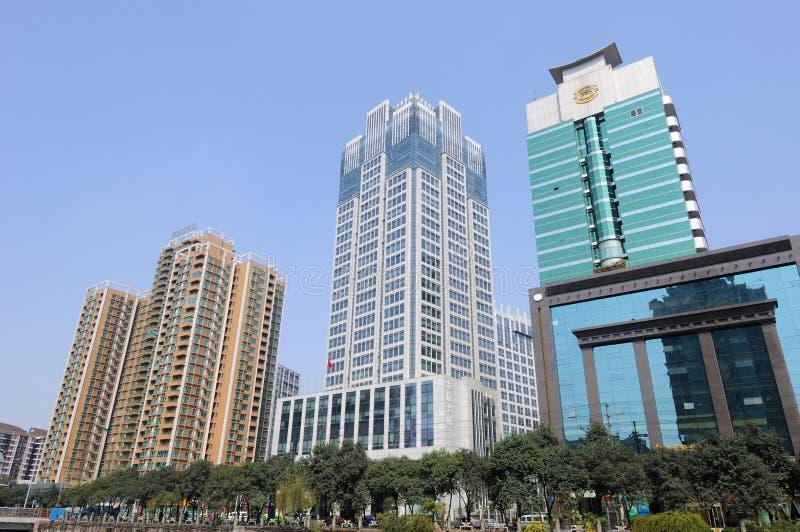 W Chengdu nowożytny budynek obrazy stock
