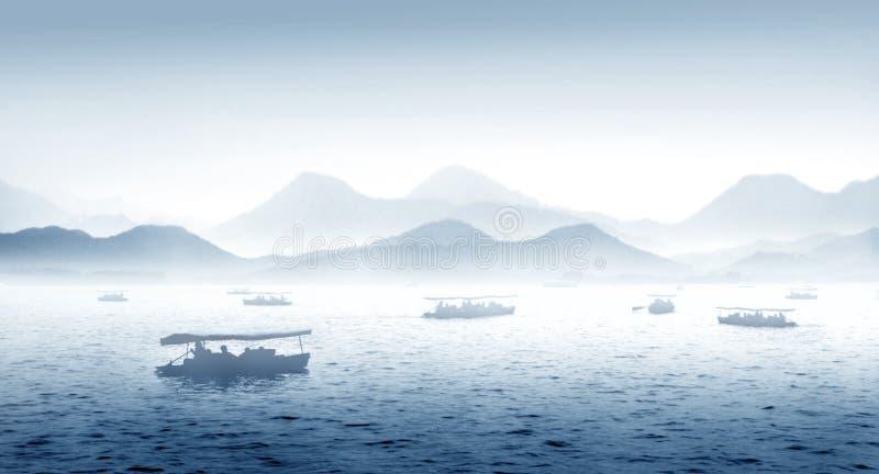 W Chiny zachodni Hangzhou jezioro zdjęcia stock