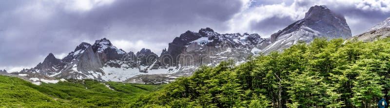 W-circuit Torres Del Paine, Chili images libres de droits