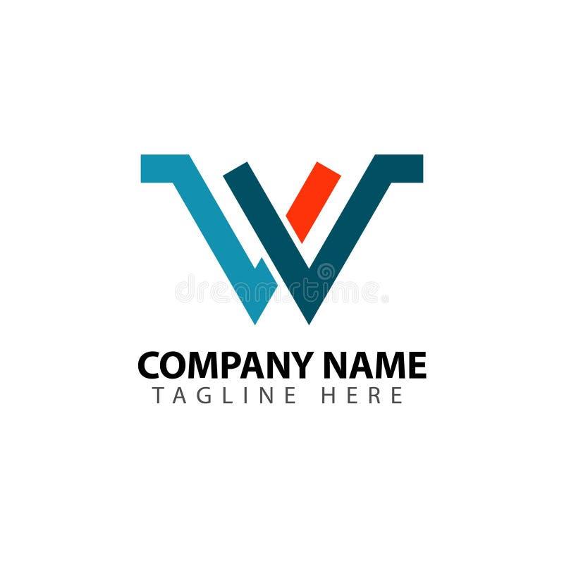 W Company Logo Vector Template Design Illustration vektor abbildung